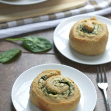 Spinach Goat Cheese Swirl Rolls