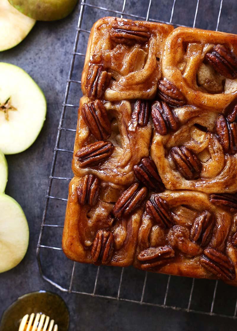 Apple Honey Pecan Sticky Buns Red Star Yeast