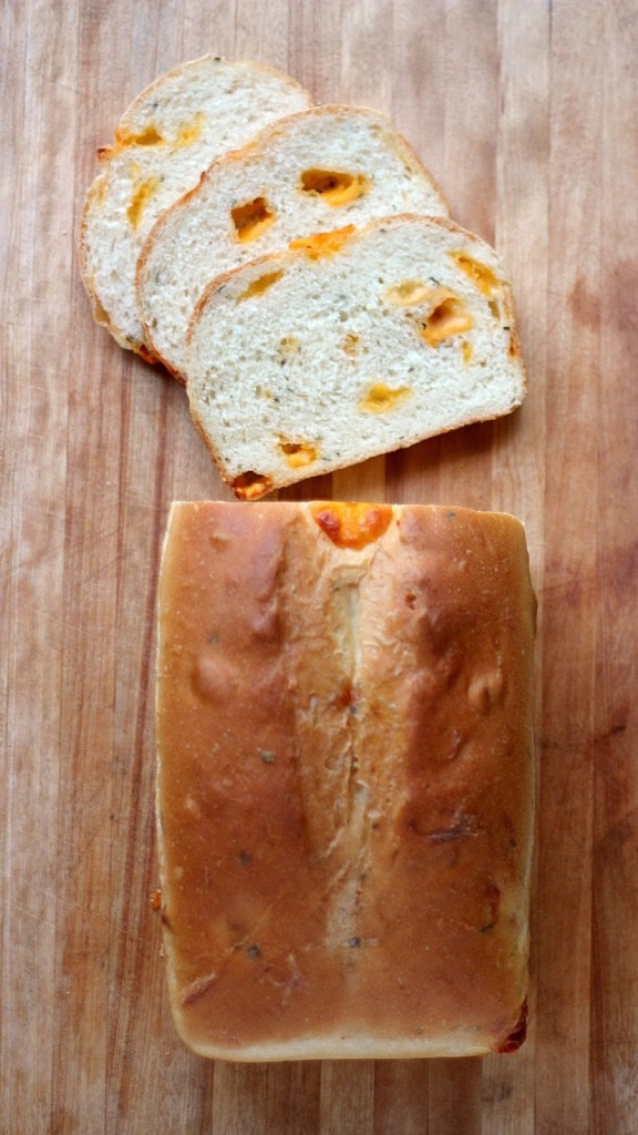 Cheddar- Chunk and Chive Bread