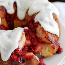 Cherry Cheesecake Monkey Bread