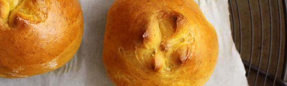 Pumpkin Pie Brioche Rolls