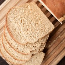 Whole Wheat Sourdough Sandwich Bread | Don't let the whole wheat flour fool you. This sandwich bread is light and fluffy with just a hint of sourdough to give it great bought-at-the-local-bakery flavor. It's fancy enough for company but still perfect for PB&J during the week. Find recipe at redstaryeast.com.