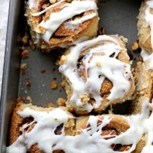 Hazelnut Rye Rolls | These hazelnut rye rolls are a perfect weekend breakfast treat! With swirls of toasted hazelnut and cinnamon sugar filling in a pillowy rye dough topped with sweet cream cheese glaze, you'll want to grab seconds (or thirds). Find recipe at redstaryeast.com.