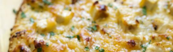 Lemon Artichoke Pesto Chicken Flatbread