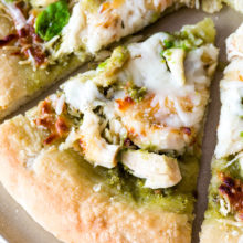 Roasted Chicken & Mozzarella Pizza