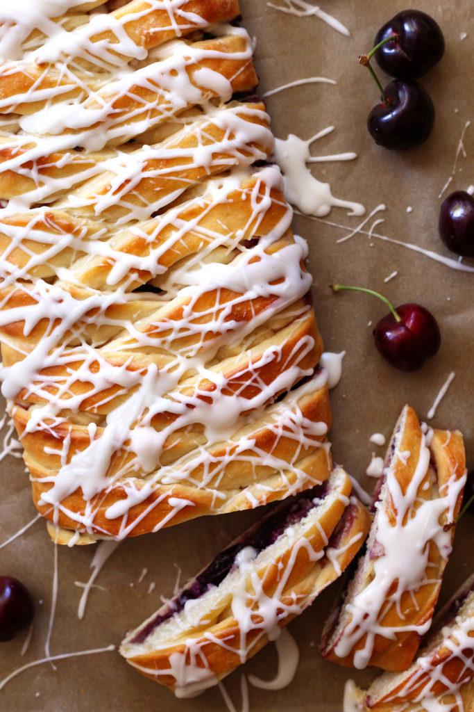 Cherry Almond Danish Braid recipe