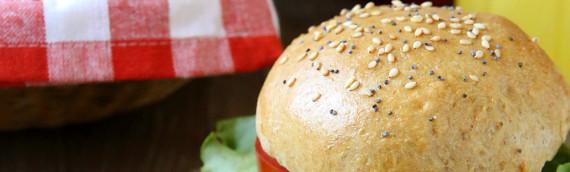 Whole Wheat Brioche Burger Buns