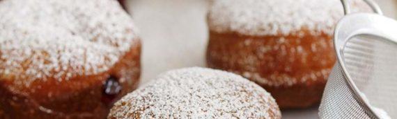 Brioche Doughnuts with Blackberry Jam Filling