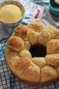 Corn Cheddar Bubble Loaf | A marvelous pull-apart bubble loaf that can be made the day before, refrigerated overnight and baked before serving. Great for summer barbecues or serve with hearty winter soups. Find recipe at redstaryeast.com.