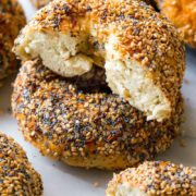 Everything Bagels | These everything bagels, made completely from scratch, taste just like your favorite bakery's variety. Follow these detailed step-by-step instructions to make bagels at home. Find recipe at redstaryeast.com.