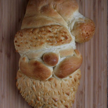 Santa Head Bread