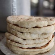 Skillet Pita Bread | Thinking of trying some homemade pitas but feeling intimidated? No worries with this recipe. It's simple! Most of the time involved is hands-off while the dough is rising, and the pitas are cooked quickly in a hot skillet. Find recipe at redstaryeast.com.