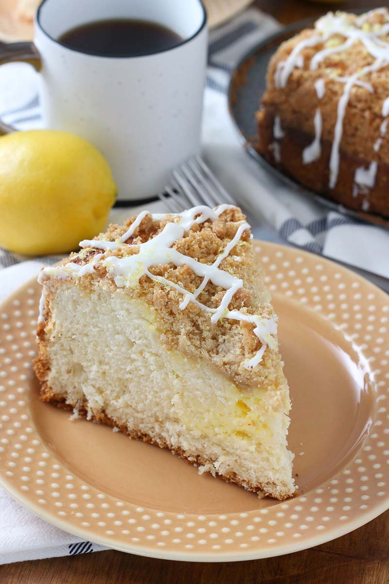 Cream Cheese Swirled Lemon Coffee Cake Recipe Red Star Yeast