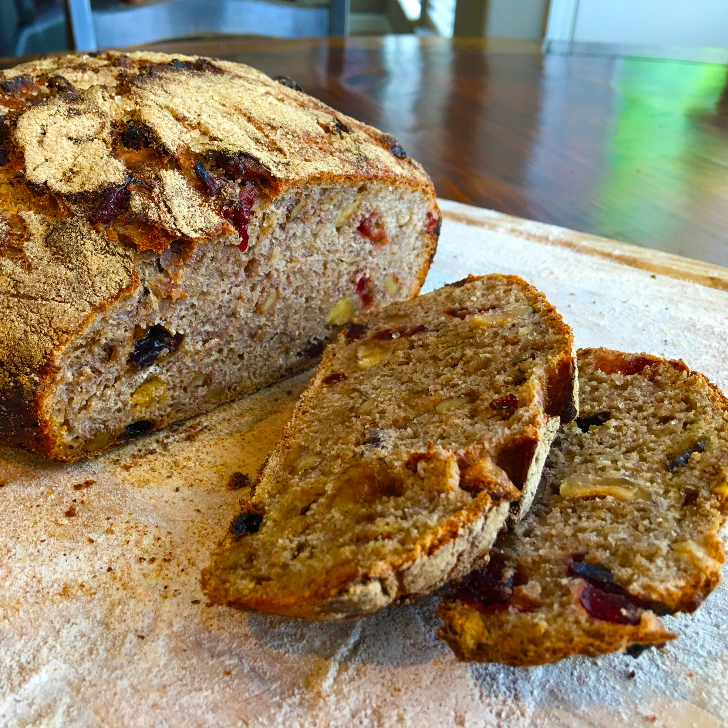 Cranberry raisin date and nut bread red star yeast butter or toasted with sliced banana paula nolan peoples choice winner of the 2016 strolling of the heifers great american bread recipe contest forumfinder Choice Image
