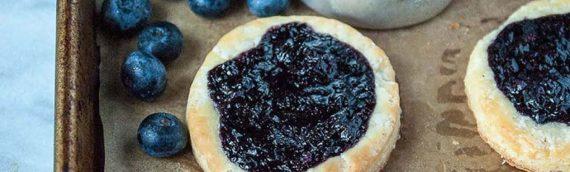 Vegan Blueberry Ginger Danishes