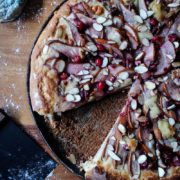 Seasonal Fruit Pizza | This pizza is a perfect addition to your holiday or special event menu. With its impressive mix of seasonal produce, spike of Grand Marnier, and nutty-sweet crust, anyone at your table will find something to like about this dish. Find recipe at redstaryeast.com.