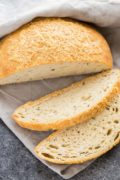 No Knead Rosemary Cheese Dutch Oven Bread | This simple no-knead recipe requires very little effort. Mix the dough the night before and let it sit on the countertop overnight. Shape it and let it rise for two hours then bake it in a piping hot Dutch oven. Find recipe at redstaryeast.com.