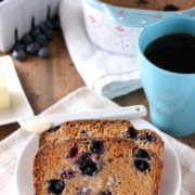 Blueberry English Muffin Bread | With the classic crusty outside and the soft, chewy inside, this Blueberry English Muffin Bread is sweetened with maple syrup and is bursting with fresh blueberries and cinnamon! Soon to become your new morning favorite! Find recipe at redstaryeast.com.