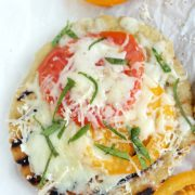 Gluten Free Grilled Flatbread | This grilled gluten free flatbread is simple and makes the perfect base for any summer toppings. Find recipe at redstaryeast.com.