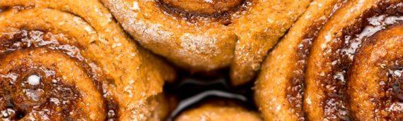 Healthy Pumpkin Spice Latte Cinnamon Rolls