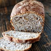 Bulgar Wheat Apple Cider Walnut Bread | Hearty and dense sandwich bread using bulgar wheat and filled with flavors of fall with apple cider and walnuts. Find recipe at redstaryeast.com.