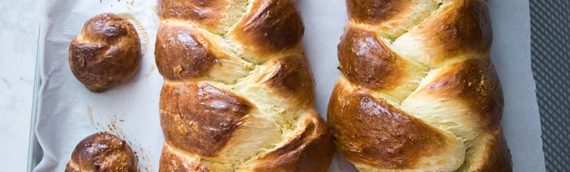 No Knead Challah Bread