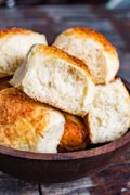 Asiago Cheese Bread and Rolls | One dough made three ways! Asiago Cheese Bread has a crispy crust with a soft inside and an awesome Asiago cheese flavor. So good with soup, salad, or on a sandwich. Find recipe at redstaryeast.com.