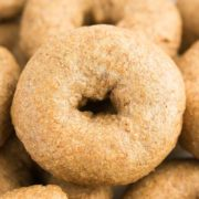 Healthy Mini Whole Wheat Bagels | These homemade bagels are soft and chewy on the inside, and have a nice crisp crust on the outside. Serve plain, or with your favorite cream cheese or jam. Find recipe at redstaryeast.com.