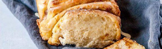 Vegan Orange Cinnamon Pull Apart Bread