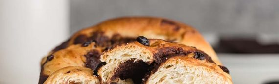 Chocolate Swirl Bread with Cherries