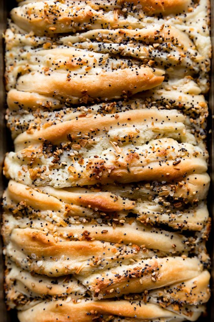 Everything Bagel Pull Apart Bread Recipe Red Star Yeast