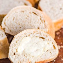 Homemade Italian Bread | This homemade Italian Bread is a cool rise bread. It can be made in advance and put in the refrigerator for anywhere from 2-24 hours. It's great to bake just before guests arrive! Find recipe at redstaryeast.com.