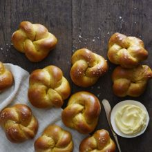 Golden Pumpkin Dinner Rolls | Add these slightly sweet, light-gold rolls to your bread basket for a tasty change of pace. Find recipe at redstaryeast.com.