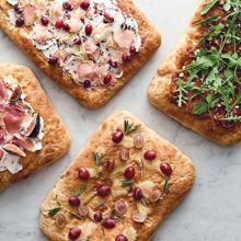 Focaccia 4 Ways | Fluffy and salty with aromas of olive oil and fresh herbs, focaccia is a true all-purpose bread. Great by itself as a snack, it can stand in for dinner rolls, or be used as a base for a variety of casual appetizers. Split horizontally, it makes wonderful sandwich bread, especially with hearty meats. Find recipe at redstaryeast.com.