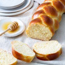 Braided Challah | Great for sharing with family and friends, this braided celebration bread turns a stunning golden-brown color when baked, making it an ideal centerpiece for any table—and it tastes even better than it looks. Find recipe at redstaryeast.com.