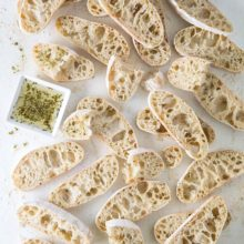 Dried Herb Ciabatta | We used dried basil, oregano, parsley, and rosemary for our ciabatta, but you can load this dough up with whichever dried herbs you prefer or have on hand. If you don't have bread flour, all-purpose flour will also work, though it will make the bread less chewy. Find recipe at redstaryeast.com.