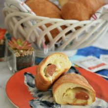 Home-style Pepperoni Rolls | These homemade rolls are filled with spicy pepperoni and creamy cheese and will take you right back to the beautiful state of West Virginia! Find the recipe at redstaryeast.com.