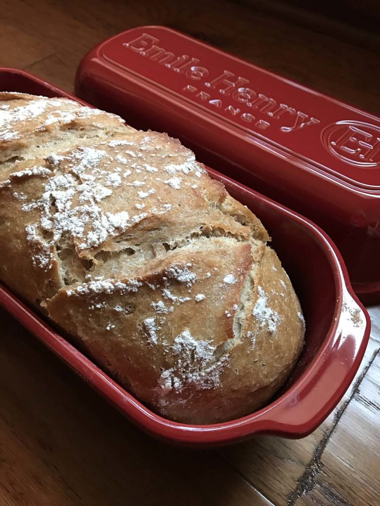 National Homemade Bread Day Giveaway | Enter to win an Emile Henry Italian Bread Loaf Baker and Platinum Yeast. Giveaway ends 11/24/19.