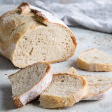 Platinum Instant Sourdough Boule | Sourdough without homemade sourdough starter sounds impossible, but this recipe and its revolutionary ingredient—Red Star Platinum Instant Sourdough Yeast—guarantees it. With dried sourdough starter mixed with high-powered yeast, this sourdough boule skips the starter without missing any flavor. For a bit of variety, we swap our round Dutch oven and boule shape for an elongated oval. Find recipe at redstaryeast.com.