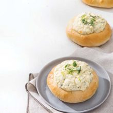 Feta Cheese Rolls | Platinum Yeast helps this savory wonder achieve its superior fluffy rise, making it the perfect pillowy bed for the aromatic Feta Cheese Filling. Find recipe at redstaryeast.com.