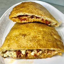 New York Style Calzones | Make calzones or stromboli with this easy New York-style pizza dough. Perfect for dinner or a late night snack. Master Pizzaiolo Leo Spizzirri shows you how to make it with a step-by-step video. Find recipe at redstaryeast.com.