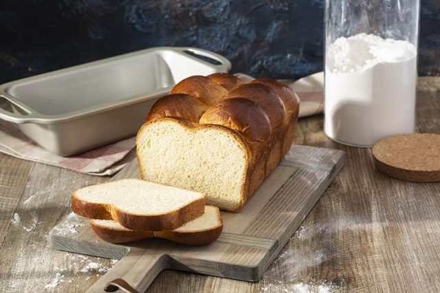 "Brioche Nanterre | Known for its iconic ""bubble"" top, this rich, yeasted bread is enriched with butter, eggs, milk, and sugar to deliver its fluffy and buttery texture. Find the recipe and baking tip video at redstaryeast.com."