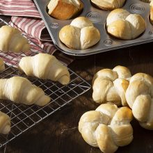 Buttermilk Rolls | Everyone needs a go-to dinner roll dough that's versatile and easy to work with. These light and soft dinner rolls can be shaped in so many ways, from crescents to rosettes. Find recipe and shaping video at redstaryeast.com.