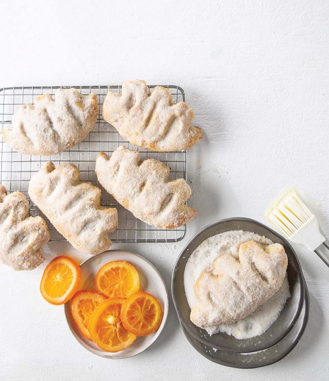 Le Gibassier | A French bread from Provence, the gibassier is flavored with anise, candied orange peel, and orange blossom water. Cut and shaped to resemble a leaf, this decorative bread is traditionally served during the Christmas holiday, but is a perfect breakfast treat any time of the year. Find recipe at redstaryeast.com.
