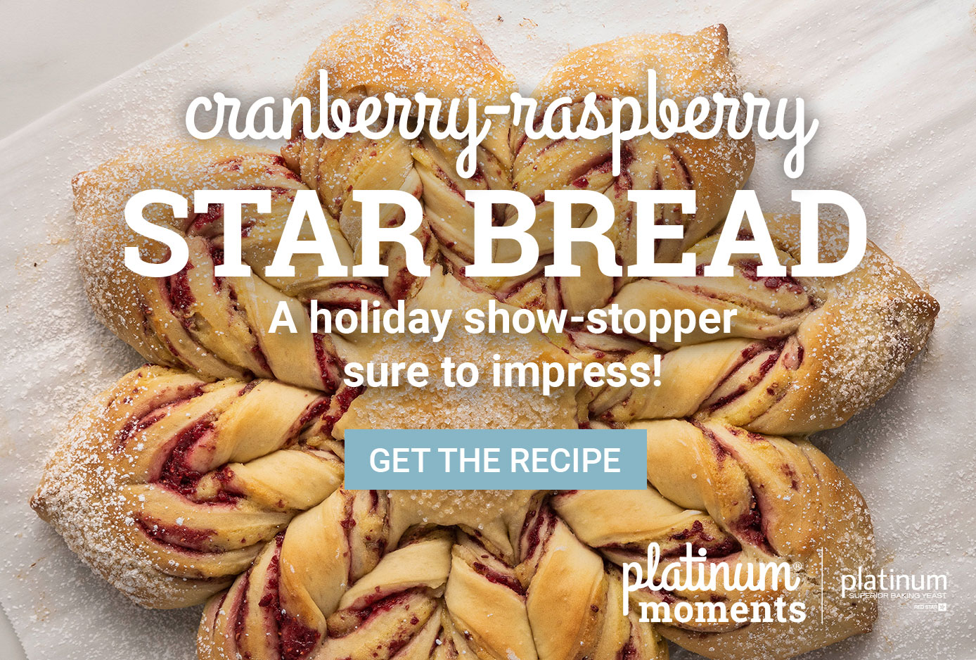 Cranberry Raspberry Star Bread | A holiday show stopper sure to impress.