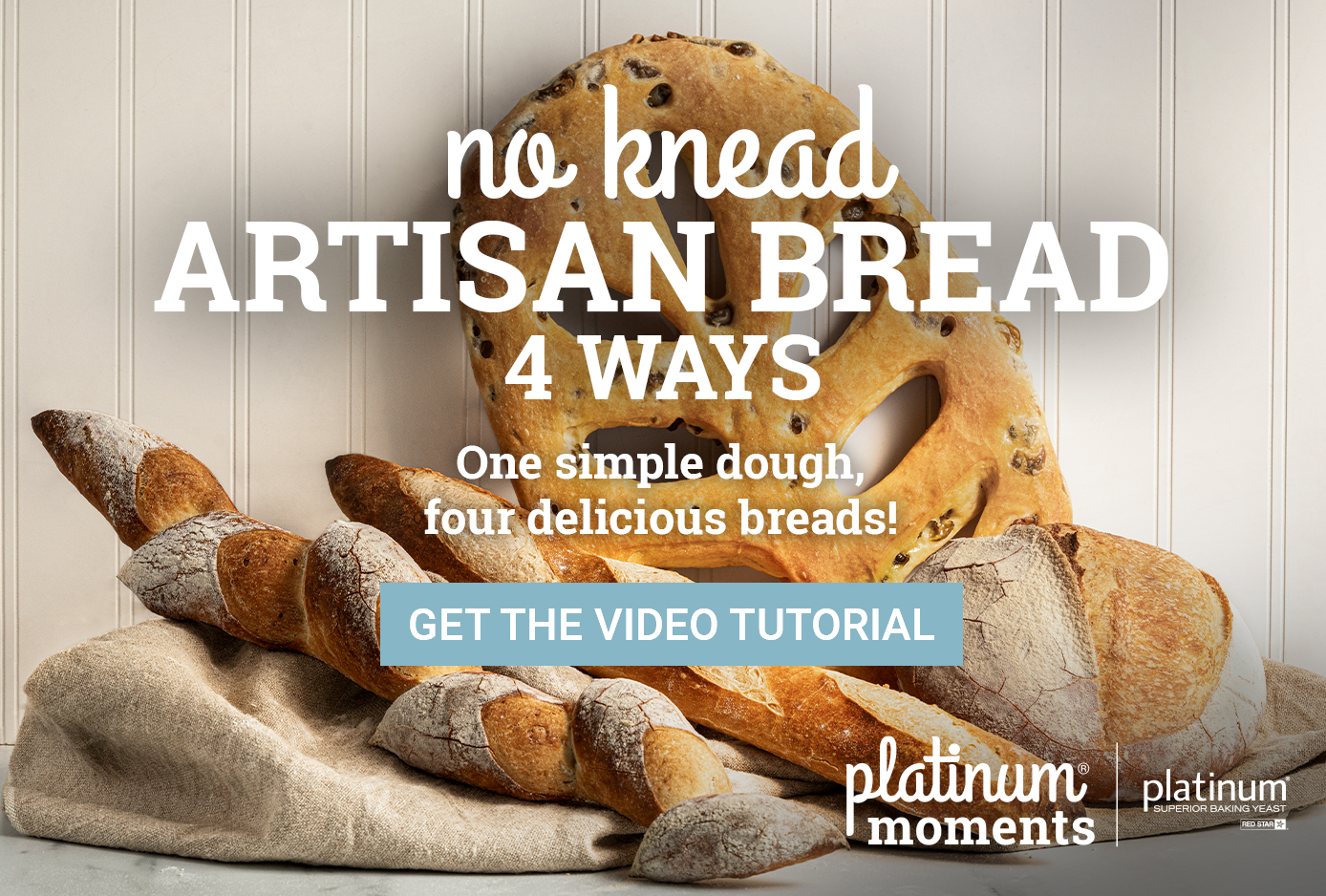 No Knead Artisan Bread 4 Ways Recipe